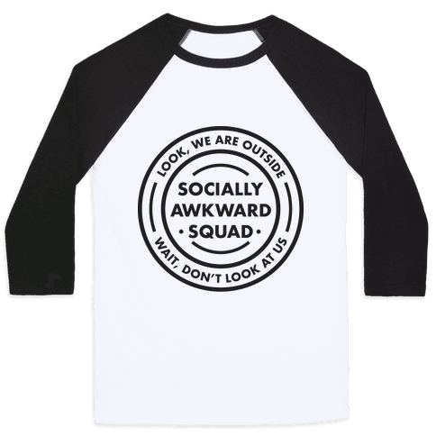 Socially Awkward Squad Baseball Tee