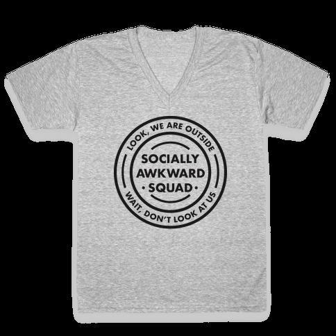 Socially Awkward Squad V-Neck Tee Shirt