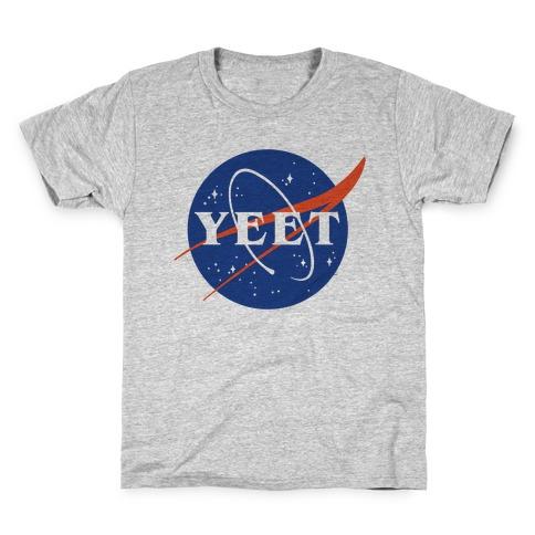 Yeet Nasa Logo Parody Kids T-Shirt