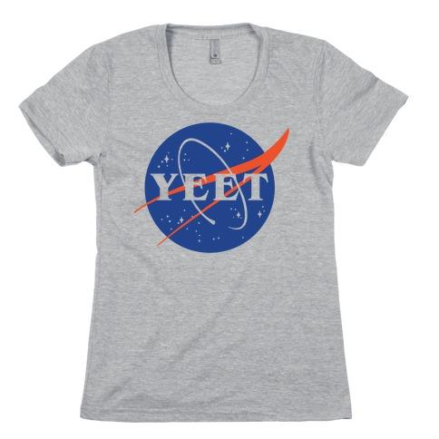 Yeet Nasa Logo Parody Womens T-Shirt