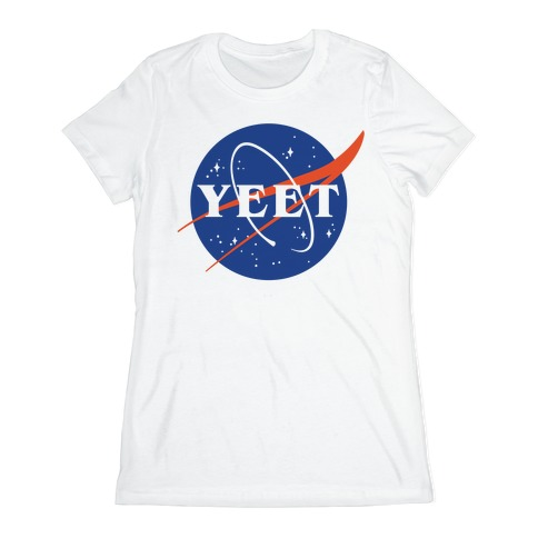 Yeet Nasa Logo Parody Womens T-Shirt