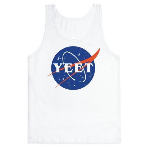 Yeet Nasa Logo Parody Tank Top