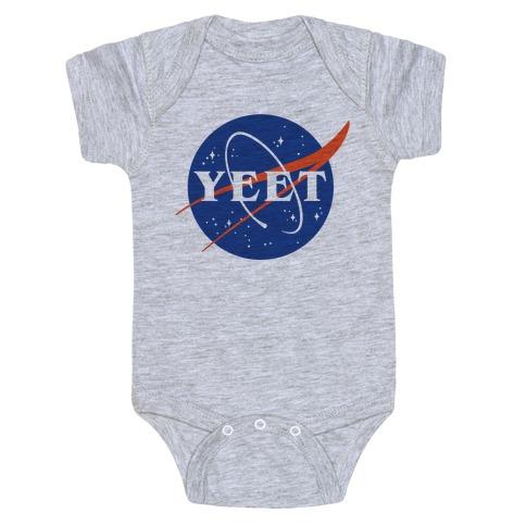 Yeet Nasa Logo Parody Baby Onesy
