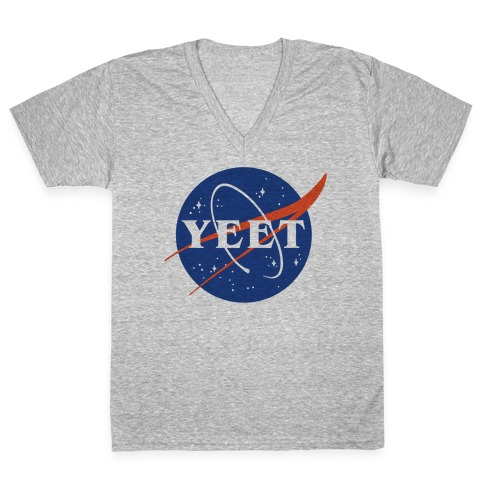 Yeet Nasa Logo Parody V-Neck Tee Shirt