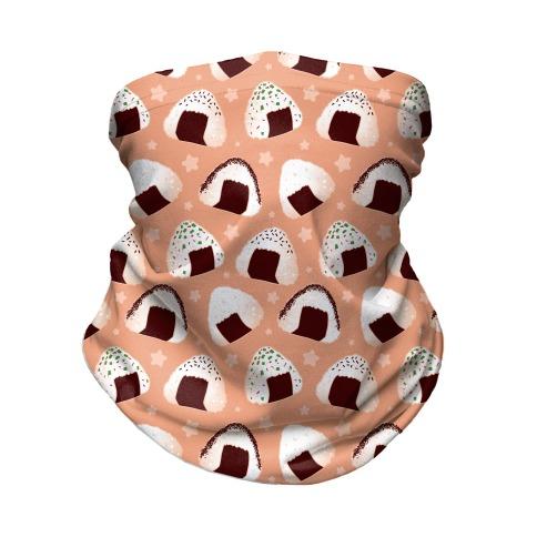 Onigiri pattern Neck Gaiter