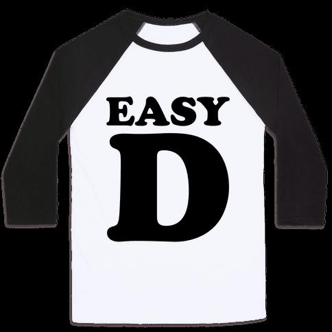 Easy D Baseball Tee