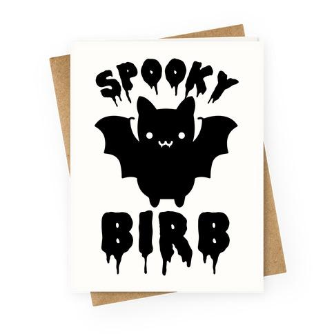 Spooky Birb Bat Greeting Card