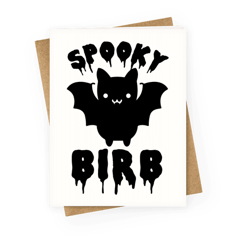 Spooky Birb Bat Greeting Card