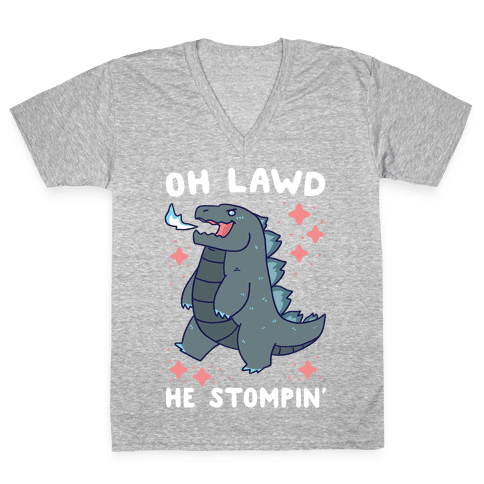 Oh Lawd, He Stompin' V-Neck Tee Shirt