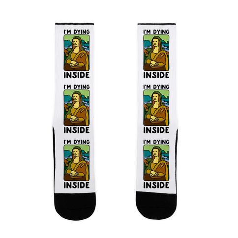 I'm Dying Inside Mona Lisa Parody Sock