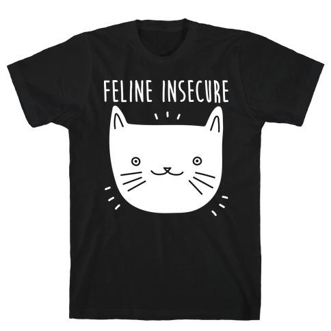 Feline Insecure Cat Mens T-Shirt