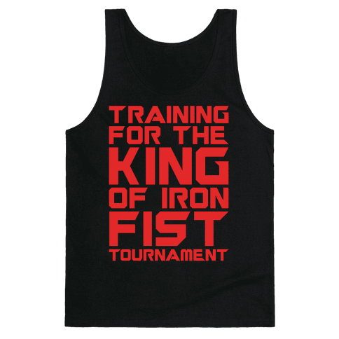 Training For The King of Iron Fist Tournament Parody White Print Tank Top