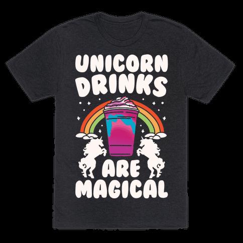Unicorn Drinks Are Magical Parody White Print