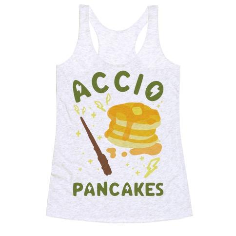Accio Pancakes Racerback Tank Top