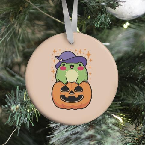 Cute Halloween Frog Ornament