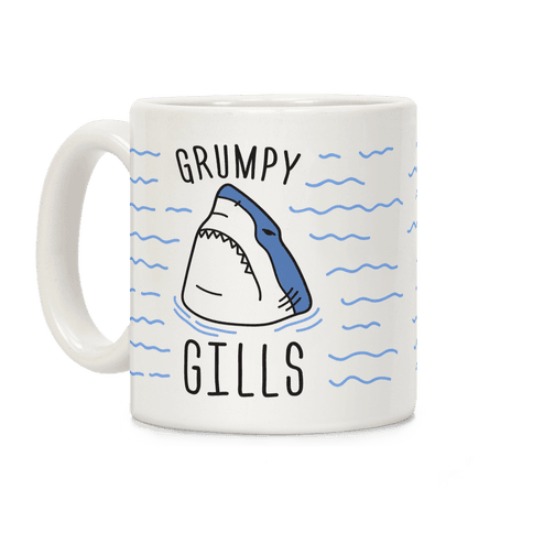 Grumpy Gills Shark Coffee Mug