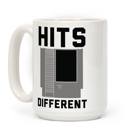 Hits Different Game Cartridge  Coffee Mug