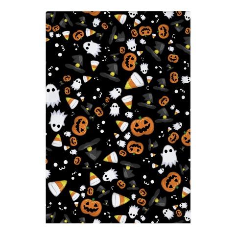 Spoopy Halloween Pattern Garden Flag