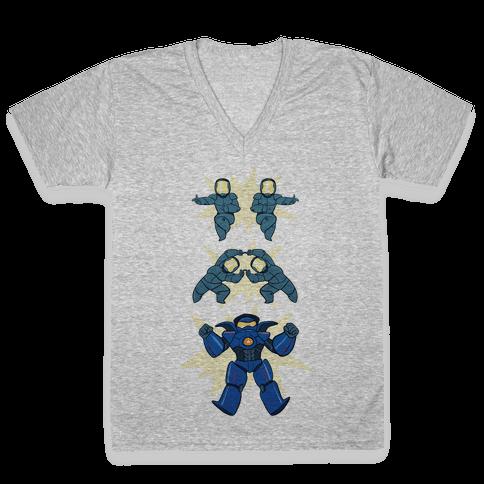 Jaeger Fusion Dance V-Neck Tee Shirt