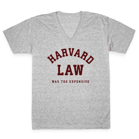 Harvard Law Was Too Expensive V-Neck Tee Shirt