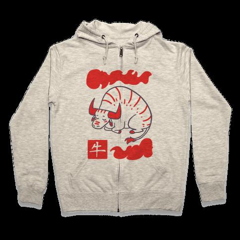 Ox - Chinese Zodiac Zip Hoodie