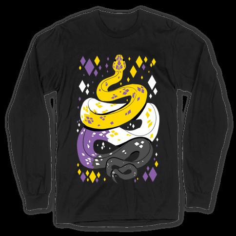 Pride Snakes: Non-binary Long Sleeve T-Shirt