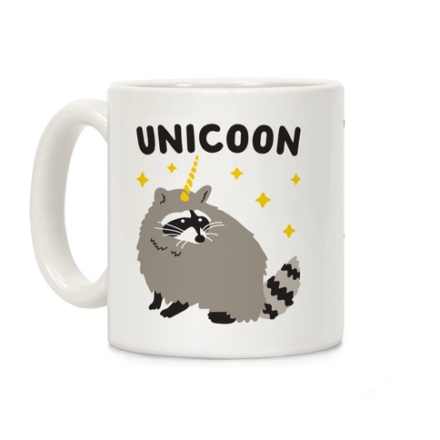 Unicoon Raccoon Unicorn  Coffee Mug