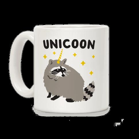 Unicoon Raccoon Unicorn  Coffee Mug