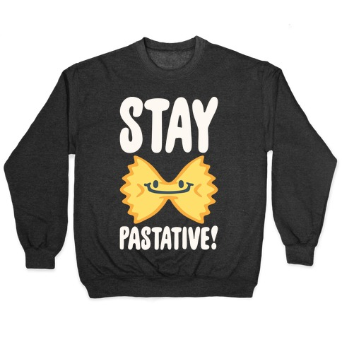 Stay Pastative White Print Pullover
