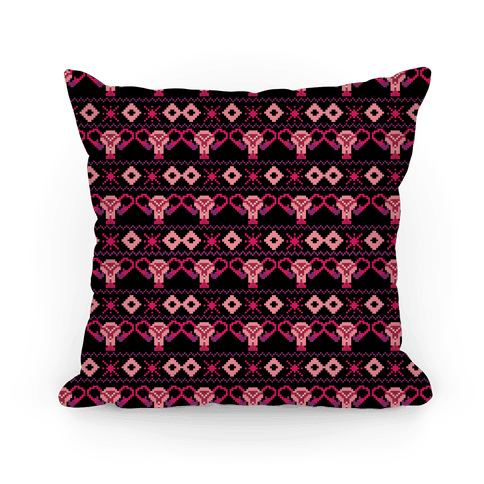 Cuterus Uterus Pattern Pillow