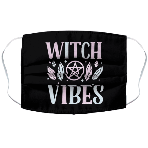 Witch Vibes Accordion Face Mask