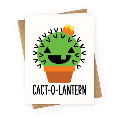 Cact-o-lantern Greeting Card