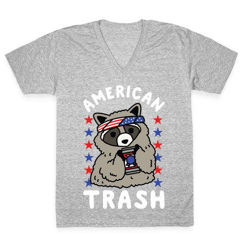 American Trash V-Neck Tee Shirt