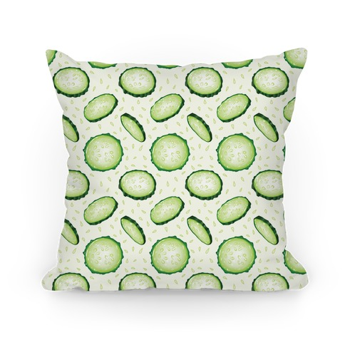 Refreshing Cucumber Pattern Pillow