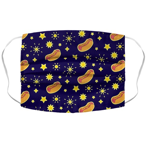 Star Spangled Weenies Face Mask Cover