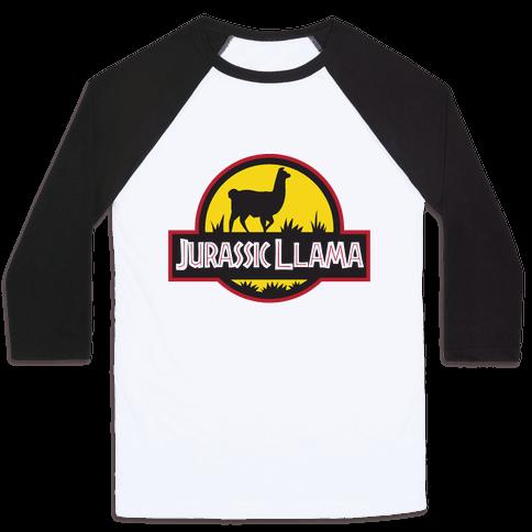Jurassic Llama Baseball Tee