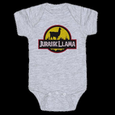 Jurassic Llama Baby Onesy