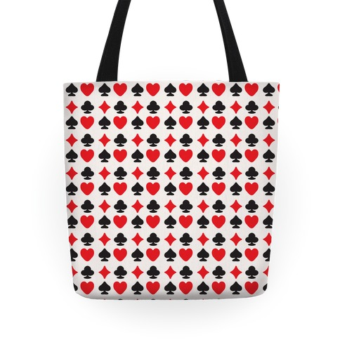 Card Deck Symbols Pattern Tote