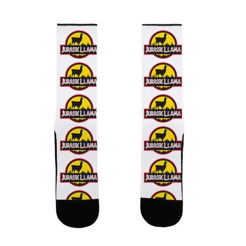 Jurassic Llama Sock