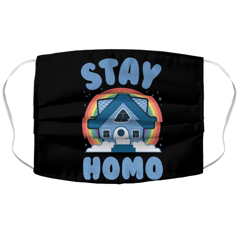 Stay Homo Face Mask Cover