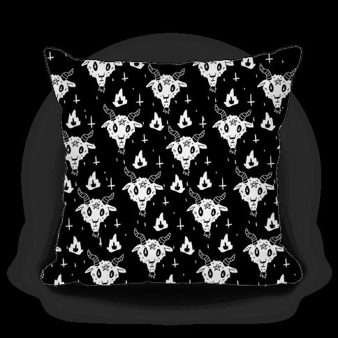 Spicy Heck Boy Satan Pattern Pillow