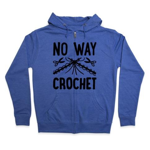 No Way Crochet Zip Hoodie