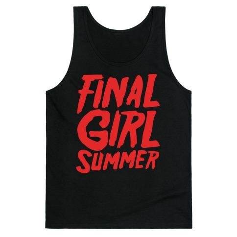 Final Girl Summer Parody White Print Tank Top