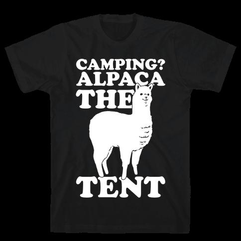 Camping? Alpaca The Tent Mens T-Shirt