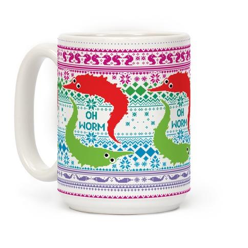 Oh Worm Ugly Sweater Coffee Mug