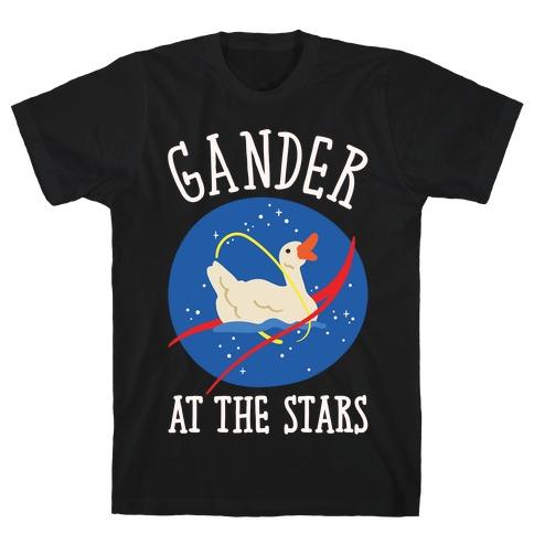 Gander At The Stars White Print T-Shirt
