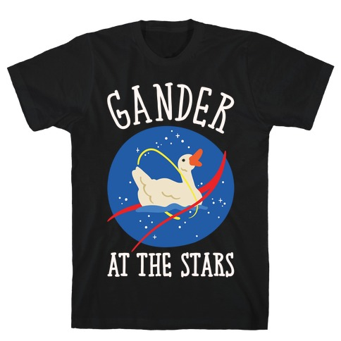 Gander At The Stars White Print T-Shirt
