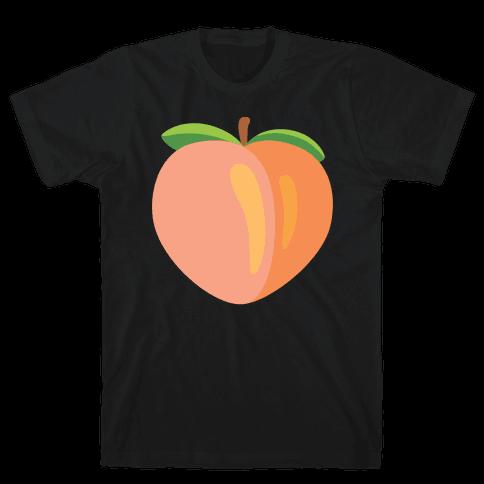 Eggplant/Peach Pair (Peach) Mens T-Shirt