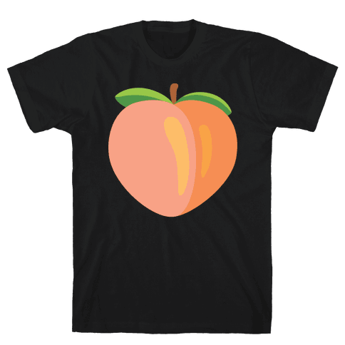 Eggplant/Peach Pair (Peach) Mens T-Shirt