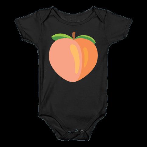 Eggplant/Peach Pair (Peach) Baby Onesy